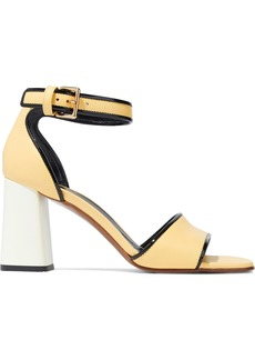 Marni Woman Leather Sandals Pastel Yellow