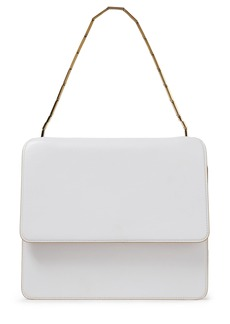 Marni Woman Cache Leather Shoulder Bag White