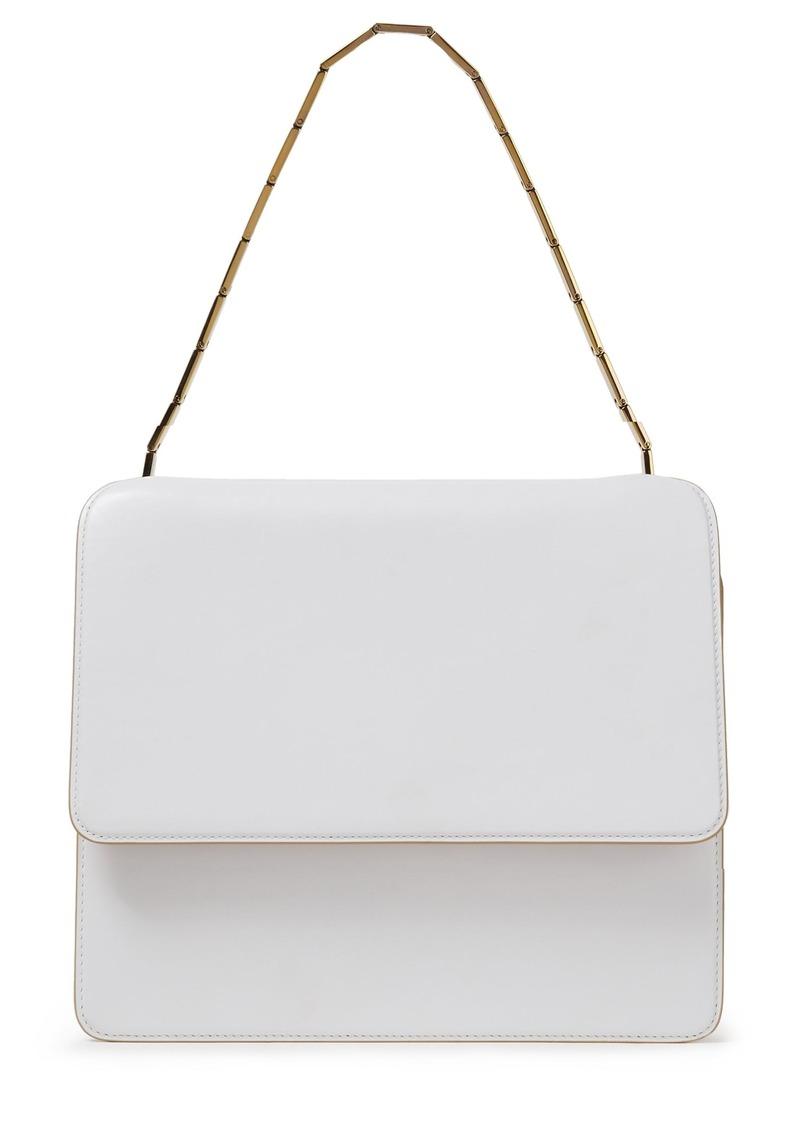 Marni Woman Leather Shoulder Bag White