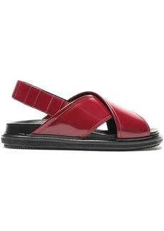 Marni Woman Leather Slingback Sandals Claret