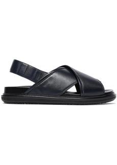 Marni Woman Leather Sandals Midnight Blue