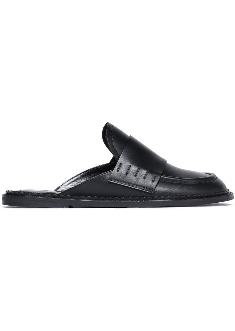 Marni Woman Leather Slippers Black