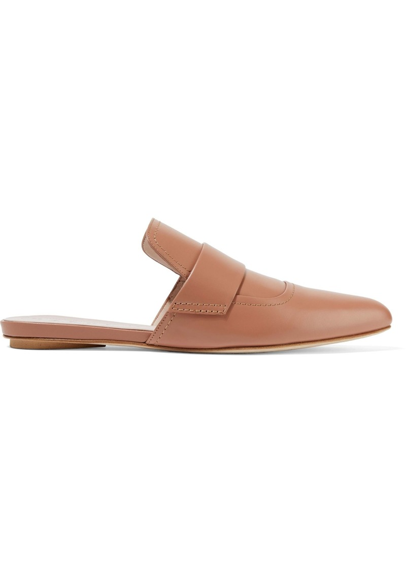 Marni Woman Leather Slippers Blush