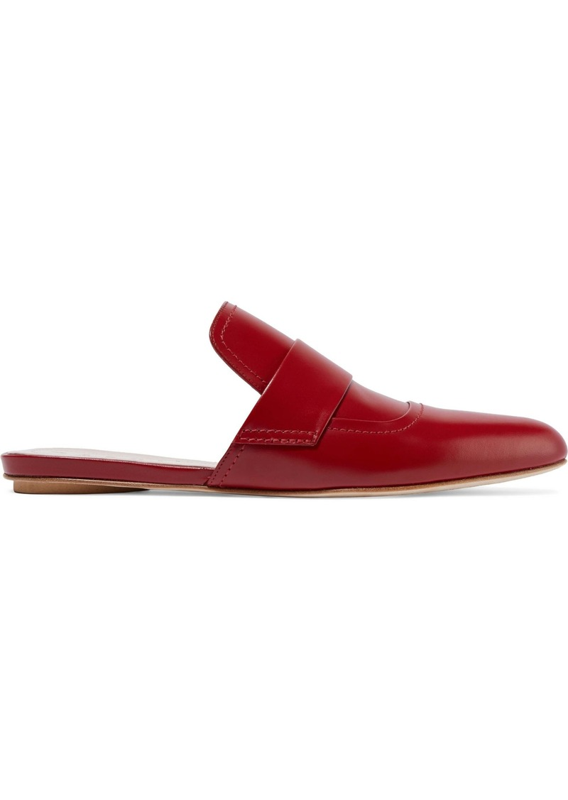 Marni Woman Leather Slippers Red
