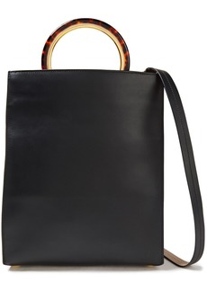 Marni Woman Leather Tote Black