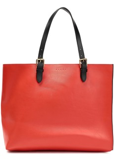 Marni Woman Leather Tote Tomato Red