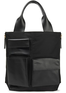 Marni Woman Leather-trimmed Shell Tote Black