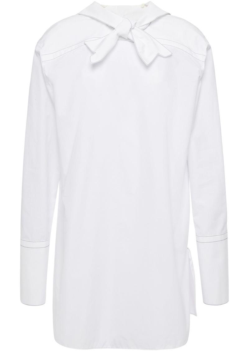 Marni Woman Lily Knotted Cotton-poplin Shirt White