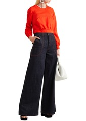 Marni Woman Cropped Twill Top Red