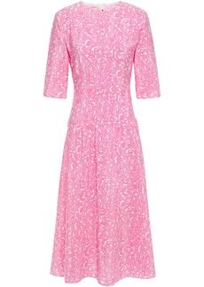 Marni Woman Lylee Pleated Printed Silk-crepe Midi Dress Baby Pink