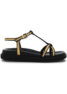 Marni Woman Metallic Leather Sandals Gold
