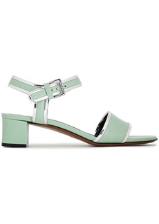 Marni Woman Metallic-trimmed Leather Sandals Light Green
