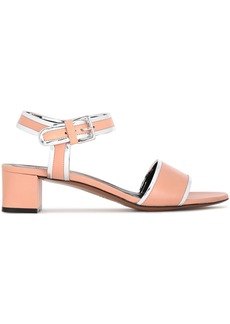 Marni Woman Metallic-trimmed Leather Sandals Blush