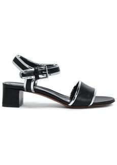 Marni Woman Metallic-trimmed Leather Sandals Black