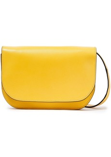 Marni Woman Minuet Textured-leather Shoulder Bag Marigold