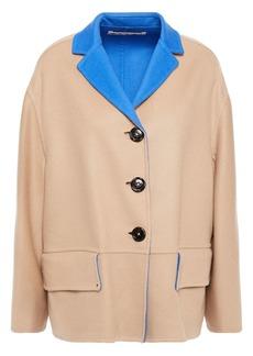 Marni Woman Oversized Reversible Wool And Cashmere-blend Felt Coat Sand