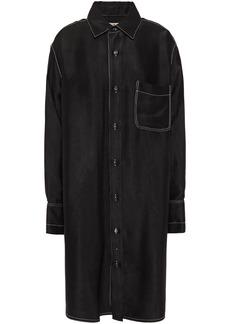 Marni Woman Oversized Satin-twill Shirt Dress Black
