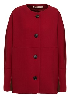 Marni Woman Oversized Wool-crepe Jacket Claret