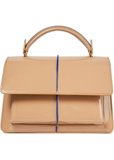 Marni Woman Patent-leather Shoulder Bag Neutral