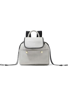 Marni Woman Pebbled-leather Backpack Light Gray