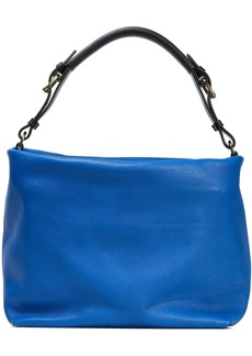 Marni Woman Pebbled-leather Shoulder Bag Cobalt Blue