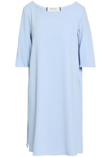 Marni Woman Pleated Cady Mini Dress Sky Blue