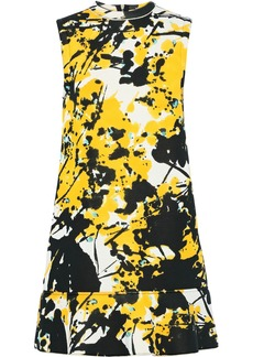 Marni Woman Printed Ponte Mini Dress Marigold