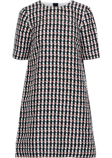 Marni Woman Printed Cotton And Silk-blend Mini Dress Black