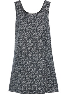Marni Woman Printed Cotton And Silk-blend Mini Dress Black