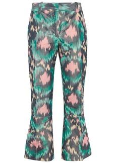 Marni Woman Printed Cotton-blend Sateen Kick-flare Pants Jade