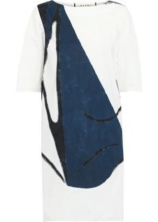Marni Woman Printed Cotton-poplin Mini Dress White