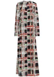Marni Woman Printed Crepe Maxi Dress Black
