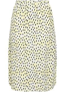 Marni Woman Printed Crepe Skirt Pastel Yellow
