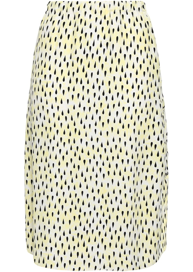 Marni Woman Printed Crepe Skirt Pastel Yellow
