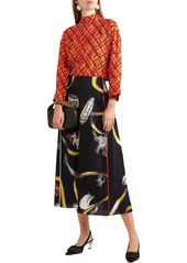 Marni Woman Printed Crepe Top Multicolor
