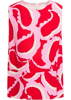 Marni Woman Printed Crepe Top Pink