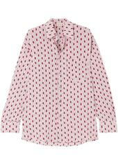 Marni Woman Printed Silk Crepe De Chine Shirt Pastel Pink