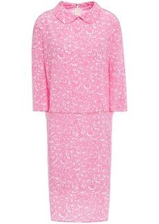 Marni Woman Printed Silk-crepe Dress Baby Pink