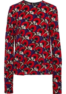 Marni Woman Printed Stretch-jersey Top Red