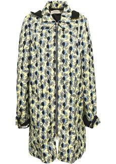 Marni Woman Printed Twill Hooded Jacket Pastel Yellow