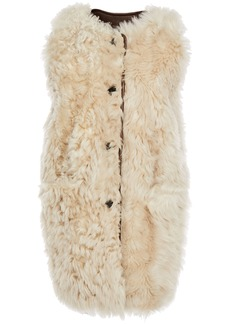 Marni Woman Reversible Shearling Vest Neutral