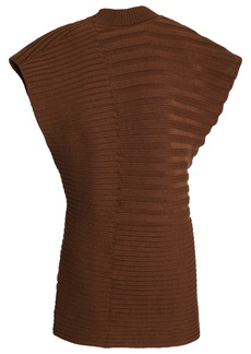Marni Woman Ribbed Cotton Top Brown