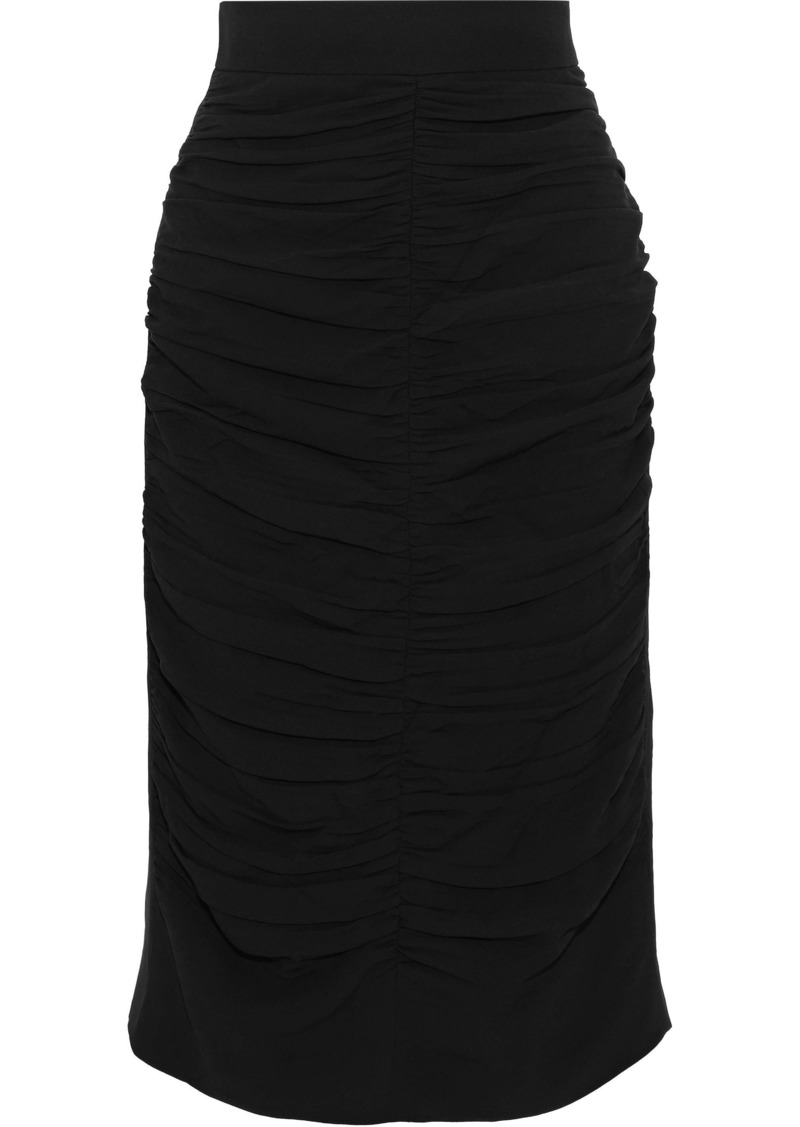 Marni Woman Ruched Crepe Skirt Black