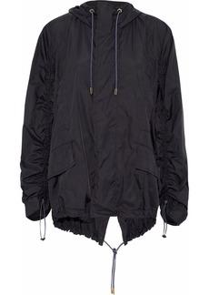 Marni Woman Ruched Shell Hooded Jacket Black