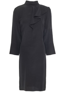 Marni Woman Ruffled Silk Crepe De Chine Dress Black