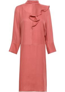 Marni Woman Ruffled Washed-silk Dress Antique Rose