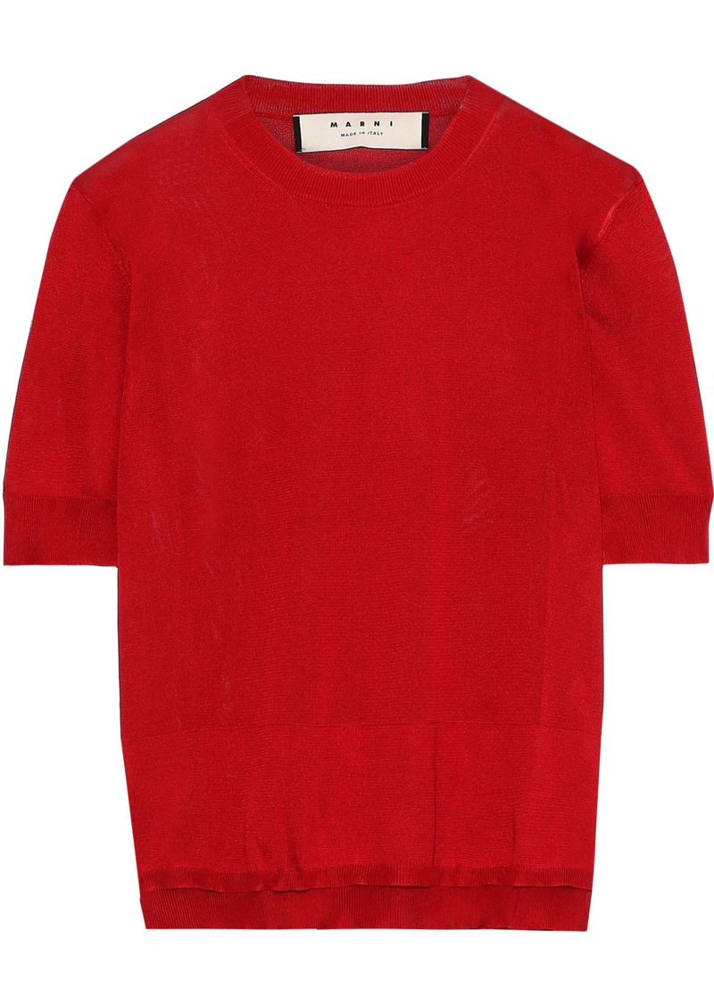 Marni Woman Silk Top Tomato Red
