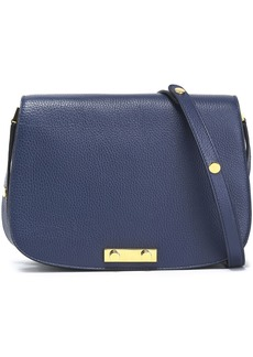 Marni Woman Textured-leather Shoulder Bag Blue
