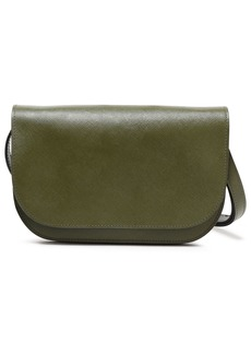 Marni Woman Textured-leather Shoulder Bag Army Green