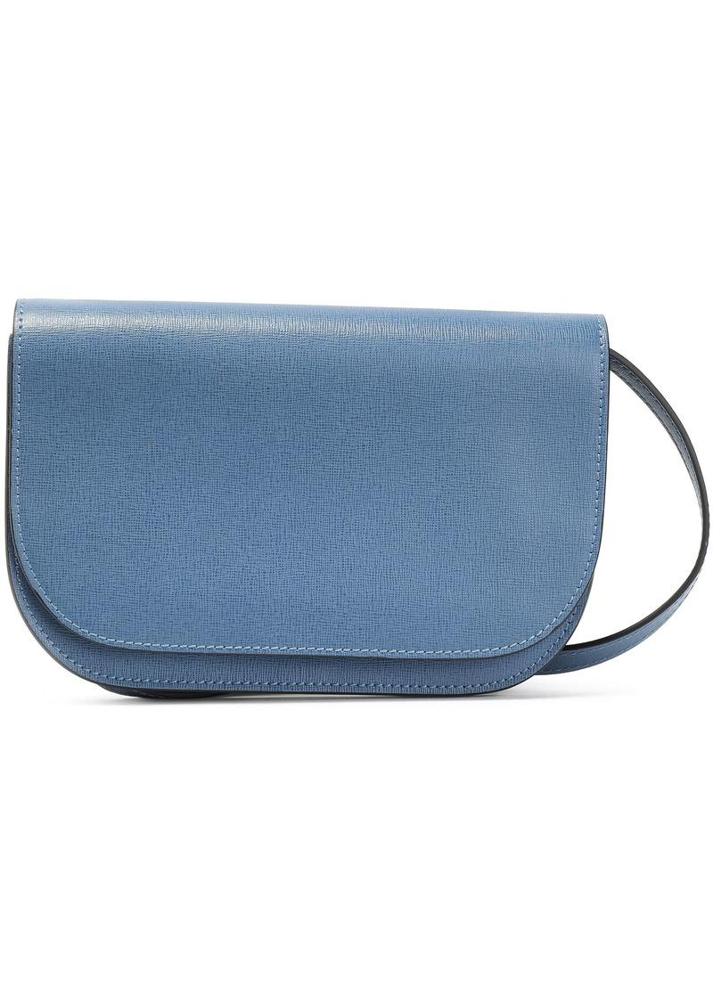 Marni Woman Textured-leather Shoulder Bag Azure